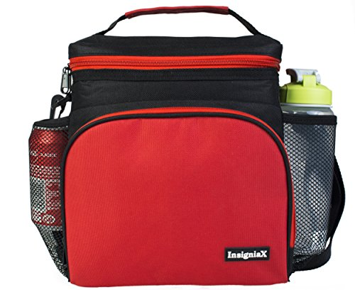 insulated lunch bag insigniax adult lunch box for work men import it all. Black Bedroom Furniture Sets. Home Design Ideas