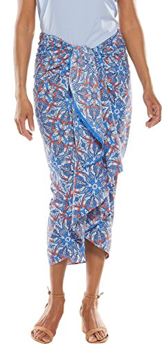 Coolibar UPF 50+ Women's Pareo - Sun Protective (Large/X-Large- Spring Blue Festival) by Coolibar