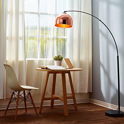 "Versanora VN-L00011 66.93"" Arquer Modern Arc Floor Lamp-Rose Gold"