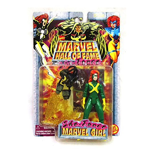 (MARVEL GIRL Marvel Comics Hall Of Fame SHE-FORCE Series 1997 Action Figure and Collector Trading Card)