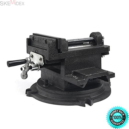 SKEMIDEX---Heavy Duty 6'' Cross Drill Press Vise Slide Metal Milling 2 Way Compound Precise And wood clamps bar clamps trigger clamps wood clamps home depot c clamp 6'' clamp-on bench vise home depot by SKEMIDEX