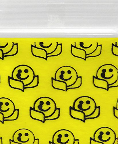 Happy Face 175175 Original Mini Ziplock 2.5mil Plastic Bags 1.75 x 1.75 Reclosable Baggies The Baggie Store