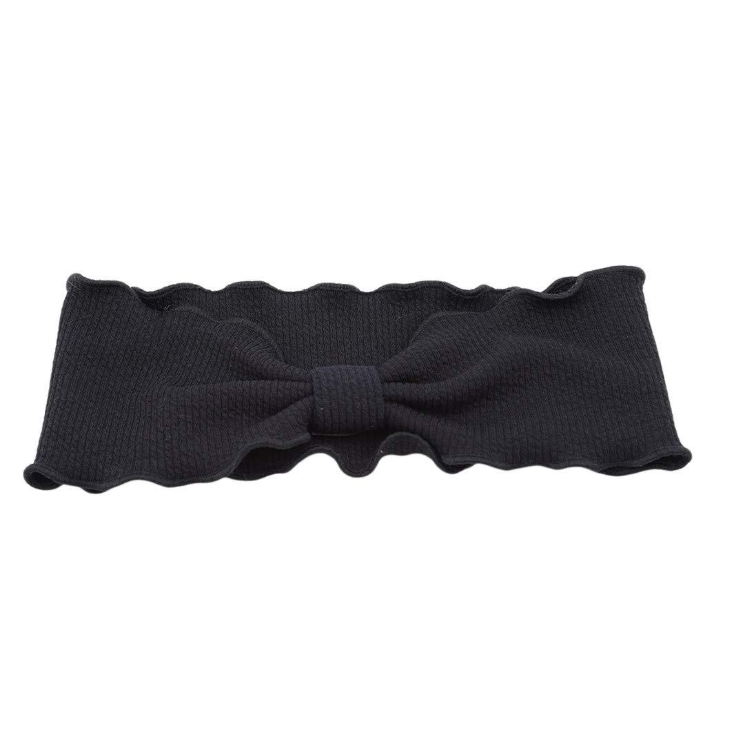 YouCY Cross Knotted Headband Hair Band Facial Head Wrap Yoga Sport Shower Headband Pack Running Hairband Sports Women Girls Headband,Black