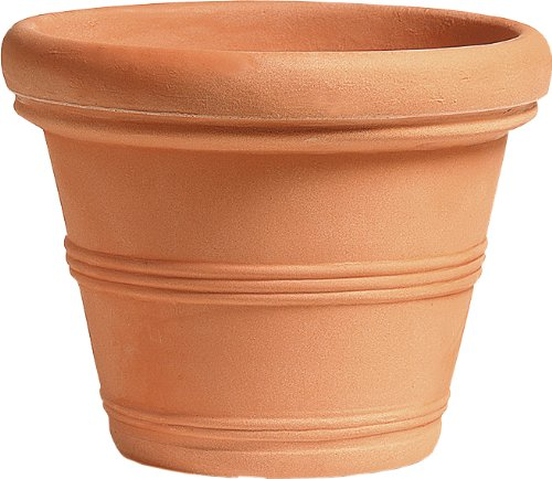 Blumentopf / Pflanztopf Liscio, mit doppeltem Rand, Ø 75 cm, Höhe 61,5 cm, terracotta-farben, matt, 148 l Inhalt, für Innen und Außen, aus hochwertigem Polyethylen