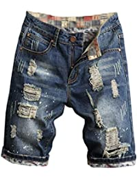 Men's Ripped Denim Shorts & Jeans
