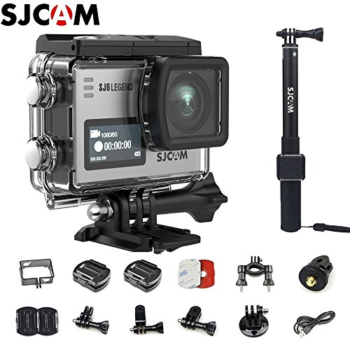 SJCAM SJ6 Kit (Including Extra Battery,Waterproof Remote Control)Dual Screen 2 LCD Touch Screen 28802160 Novatek NT96660 Panasonic MN34120PA CMOS 4K Ultra HD Sport DV Action Camera