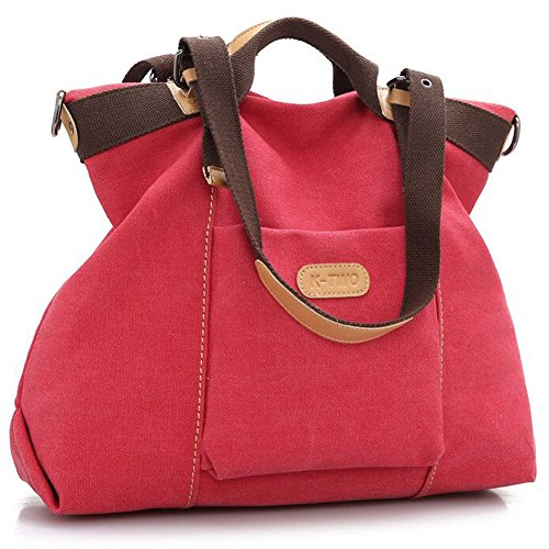 Z-joyee Women Shoulder bags Casual Vintage Hobo Canvas Handbags Top Handle Tote Crossbody Shopping Bags ()