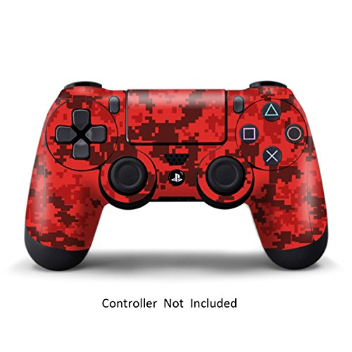 PS4 Controller Designer Skin for Sony PlayStation 4 DualShock Wireless Controller - Digicamo Red