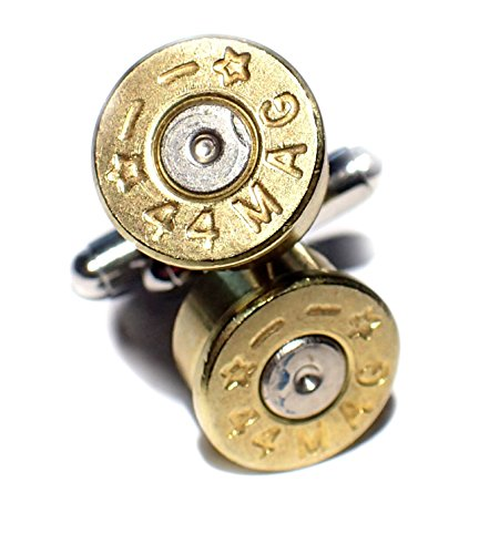 Bullet Shell Cufflinks 44 Mag Caliber Starline two tone Brass with Nickel Silver center (Bullet Shell Cufflinks)