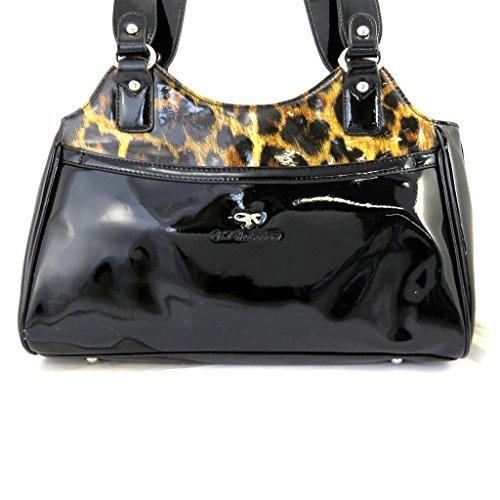 Designer-tasche Gil Holstersbrauner leopard lack.
