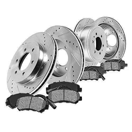 - Callahan CDS02571 FRONT 350mm + REAR 348mm D/S 6 Lug [4] Rotors + Metallic Brake Pads + Clips [ 2010 2011 Ford F150 ]