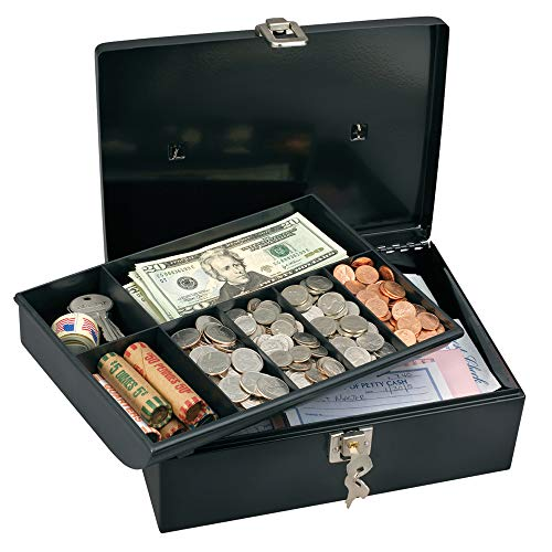 (Master Lock 7113D Cash Box with Money Tray and Key Lock, 1 Pack, Black)
