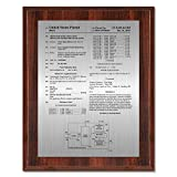 Patent Plaque - Value Cherry Gloss Wood Award 8'' x 10''