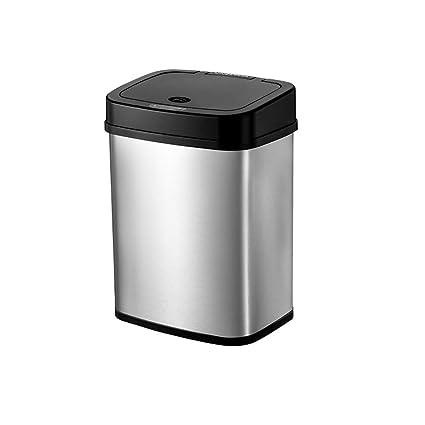 LVAB Papelera- Cubo de Basura Inducción automática de Acero Inoxidable Sensor de Movimiento automático sin