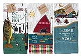 Kay Dee Design Kitchen Towel 3pc Set Fun Fishing Camping Outdoor Lake House Cabin Value Set