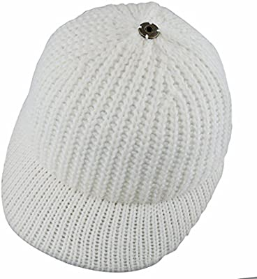 b6b59b146 Samtree Women's Beanie Hat with Visor,Winter Warm Slouchy Knitted ...
