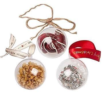 TGO Esferas de Navidad Transparentes/Moldes para Bombas de Baño - Transparente, Una sola pieza, Plástico: Amazon.es: Hogar