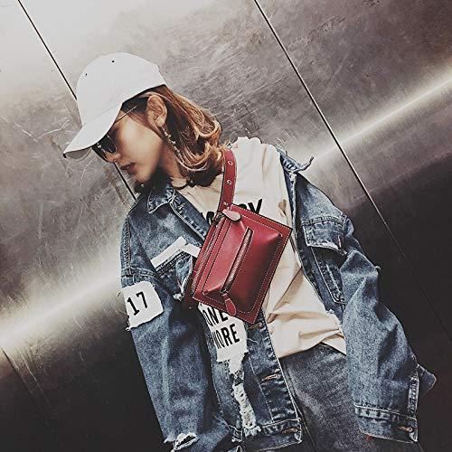 Version marée la Poches coréenne Sauvage Filles personnalité Noir Mode de WSLMHH Petit Poitrine rétro de Sac Femme Super Sac Paquet feu wStI0gq