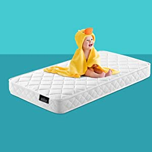 Cot Mattress, Giselle Bedding Pocket Spring and Memory Foam Mattress, 13cm Thick Baby Mattress