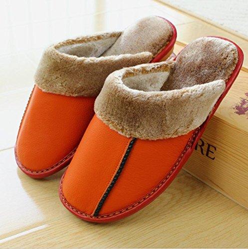 mhgao Ladies Casual zapatillas zapatillas de piel de interior casa para otoño/invierno, 2, 38