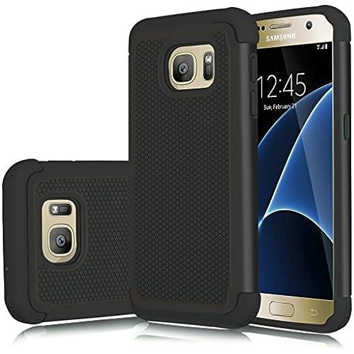 Galaxy S7 Edge Case, Jeylly(TM) [Shock Absorption] Hybrid Rubber Plastic Impact Defender Rugged Slim Hard Armor Sales