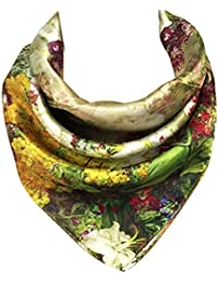 Charmeuse Silk Neckerchief Square Scarves, Romance