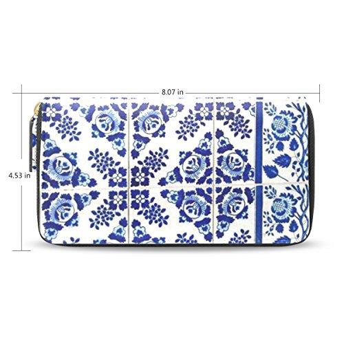 womens-azulejo-pattenr-leather-long-wallet-zippered-purse-case-with-card-holder