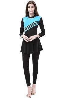 ab95ede45ac BOZEVON Muslim Modest Swimwear Women & Girls Modesty Jumpsuit One Piece  Swimsuit Hijab Swimming Costume