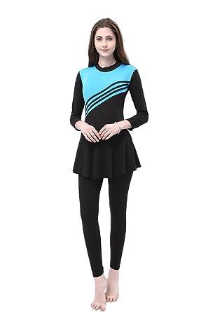883a427e730 KINDOYO Women & Girls Muslim Modest Swimwear Modesty Jumpsuit One Piece  Swimsuit Hijab Swimming Costume,