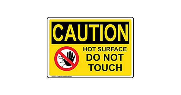 Amazon.com: compliancesigns OSHA Caution Do Not Touch ...