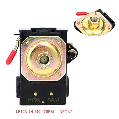 Lefoo Pressure Switch Control Air Compressor 140-175 Single Port Heavy Duty 26 Amp LF10A-1H-1-NPT1/4-140-175