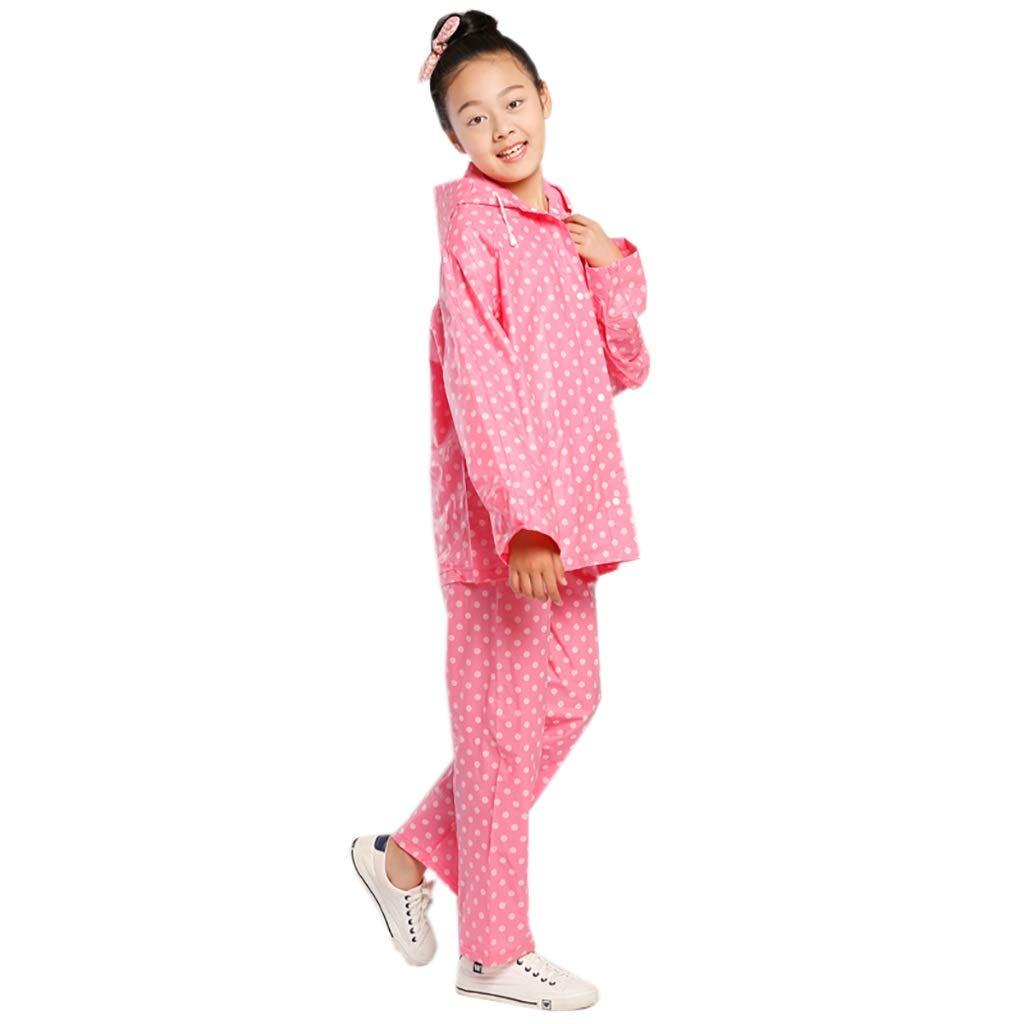 A Medium Hyuyi Ensemble de Pantalon imperméable pour Enfants imperméable pour garçons et Filles pour la Prougeection de l'environneHommest en Deux Parcravates (Couleur   A, Taille   M)