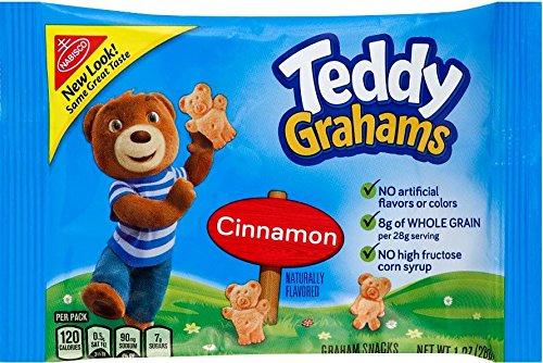 Honey Maid Teddy Grahams Cinnamon 1 ounce packages, 48 count (Nabisco Teddy Grahams)