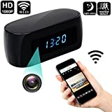 Spy Camera Wireless Hidden WIFI Camera Clock Cam HD 1080P Camcorder Night Vision Remote View Camera Monitor Home Office Car Nanny Surveillance Cameras