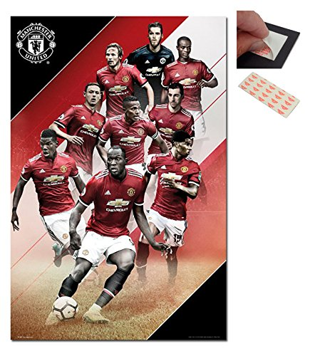 Manchester United Players 2017 / 2018 Poster - 91.5 x 61cms