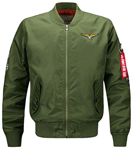 YYZYY chaqueta para Verde hombre Chaqueta Ejercito qRvaw8q