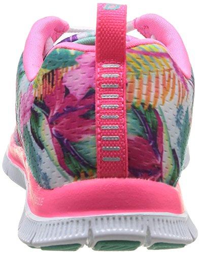Skechers Sport Frauen ziemlich Bitte Flex Appeal Fashion Sneaker Rosa / Multi