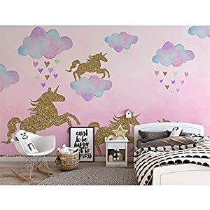 Unicorn Wall Decal, 2 Sheets Unicorn Wall Decor Stickers Removable Vinyl Decals Gifts for Girls Bedroom Kids Rooms Baby Nursery Home