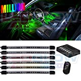 LEDGlow 6pc Million Color Flexible Under Dash Interior Lighting Kit