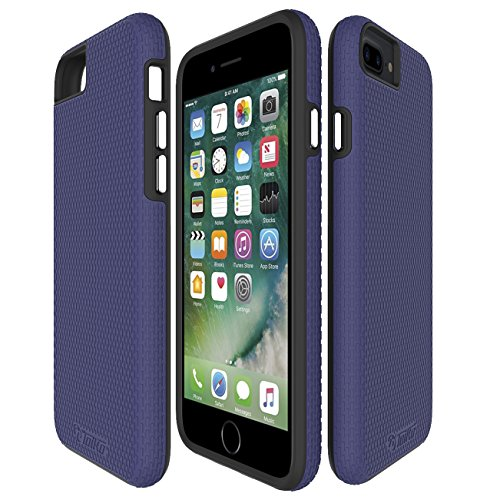 Toiko [X-Guard] iPhone6 Plus iPhone7 Plus Case iPhone 8 Plus Case Full Coverage Premium Two Layers Protection Resilient Shock Absorption Dark Blue by Toiko