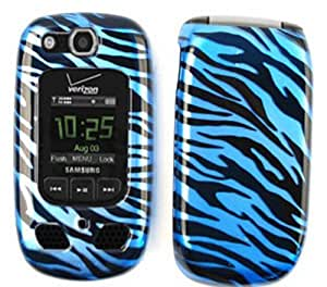 CELL PHONE CASE COVER FOR SAMSUNG CONVOY 2 U660 TRANS BLUE ZEBRA PRINT by mcsharks