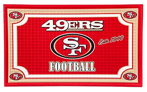 Team Sports America 41EM3826 San Francisco 49ers Embossed Door Mat San Francisco 49ers Rug