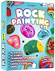 Rock Painting Kit for Kids - Arts and Crafts for Girls & Boys Ages 6-12 - Craft Kits Art Set - Supplies for Painting Rocks - Best Tween Paint Gift, Ideas for Kids Activities Age 6 7 8 9 10
