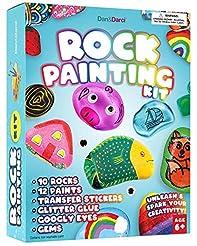 Dan&Darci Rock Painting Kit for Kids - A...