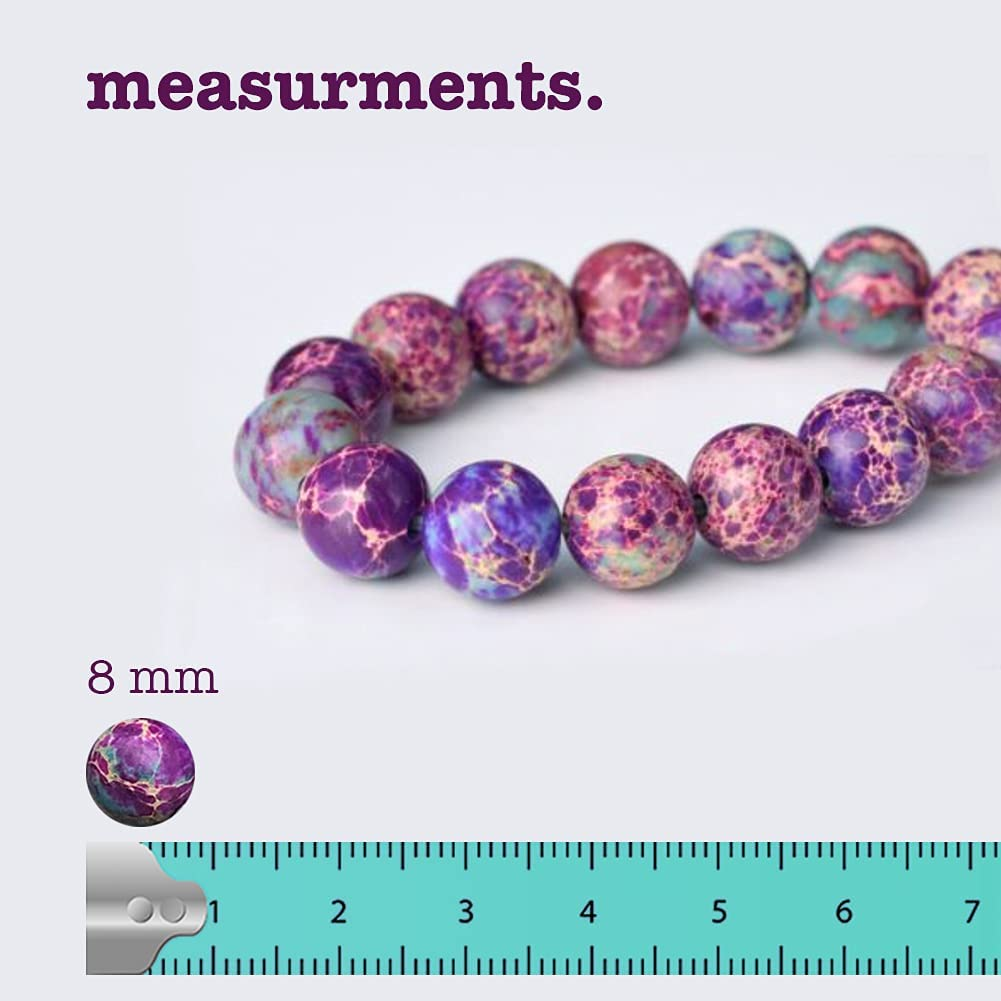 """Natural purple 8mm Rainbow Jasper gemstone loose beads 15/"""" ##MJ065"""