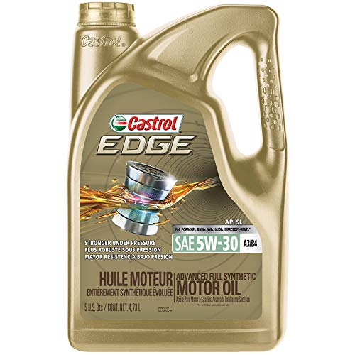 Castrol 03037 EDGE 5W-30 A3/B4 Advanced Full Synthetic Motor Oil, 5 quart ()