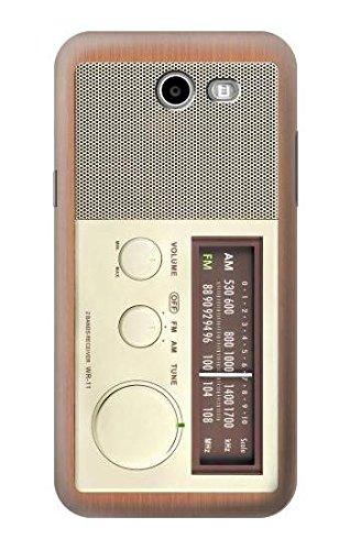 R3165 FM AM Wooden Receiver Graphic Case Cover for Samsung Galaxy J3 Emerge, J3 Prime, J3 Eclipse, Express Prime 2, Amp Prime 2, J3 Luna Pro, J3 Mission, Sol 2