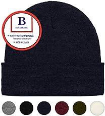 Blueberry Uniforms Navy Merino Wool Beanie Hat -Soft Winter… 8b805e0b7b4