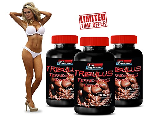 Tribulus Terrestris Powerful Testosterone Booster (3 Bottles 270 Tablets)