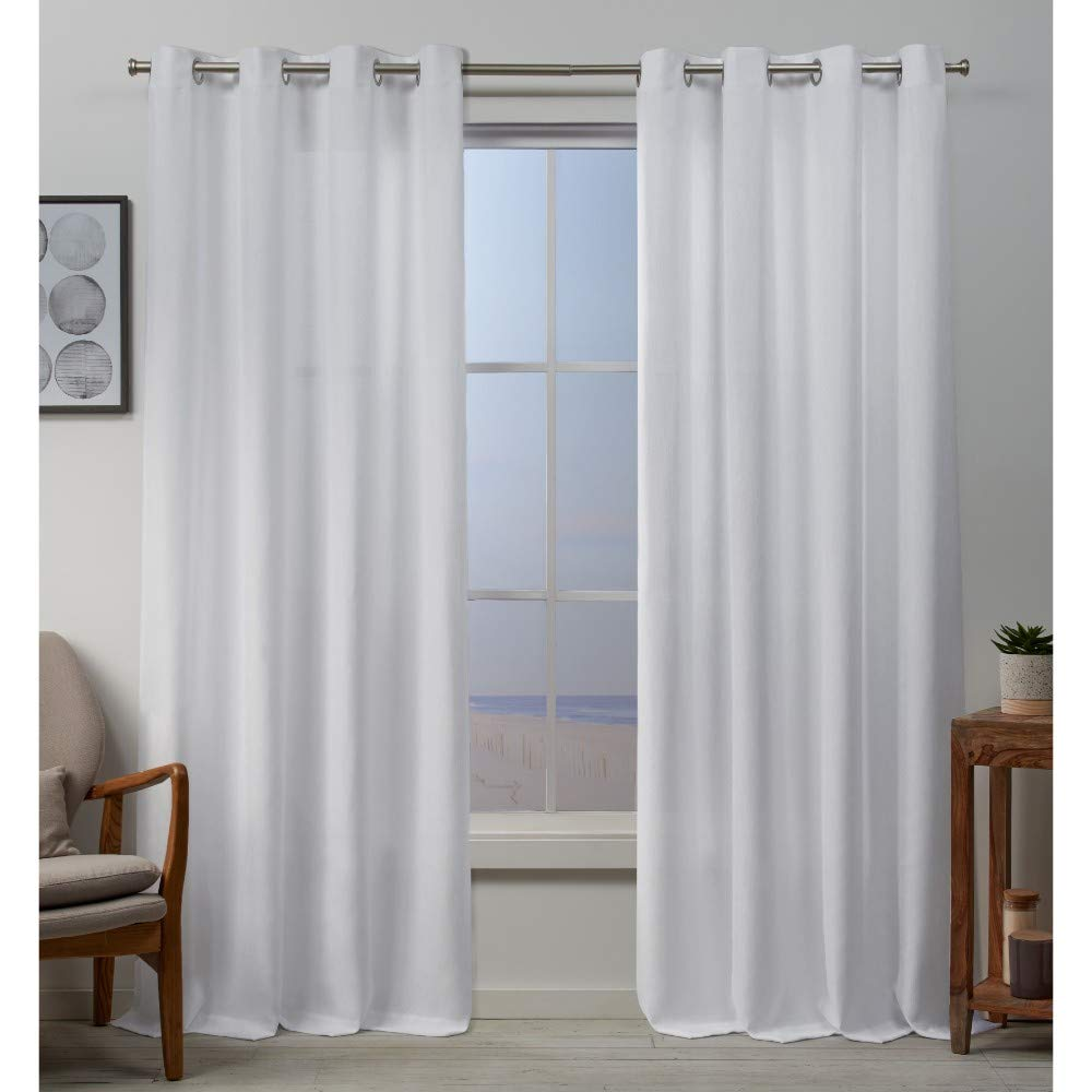 Blush 54x84 Exclusive Home Curtains Baxter Panel Pair